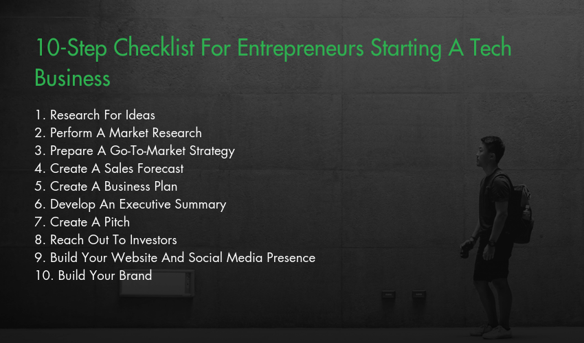 10-Step Checklist For Entrepreneurs Starting A Tech Business