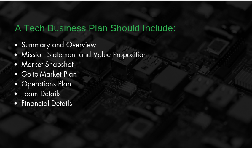 A Tech Business Plan Should Include - Starting a tech business