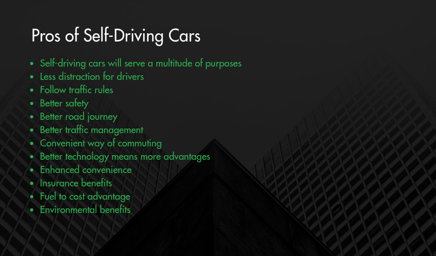 Pros of Self-Driving Cars