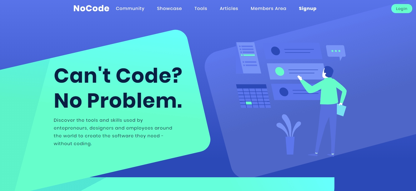 NoCode.TECH offers a curated directory of resources, tools and hacks for non-techs.