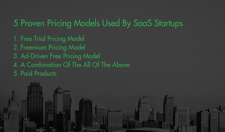 Pricing Model - 5 Proven Pricing Models Used By SaaS Startups_
