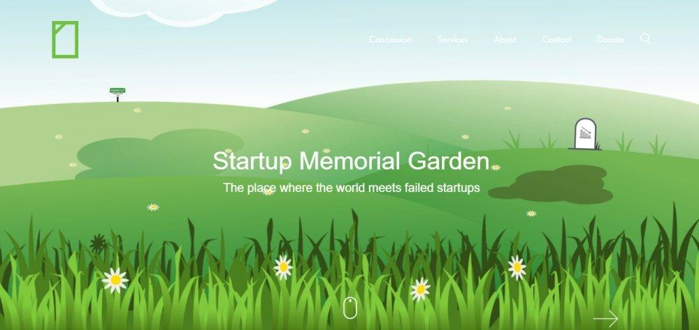 startup memorial garden