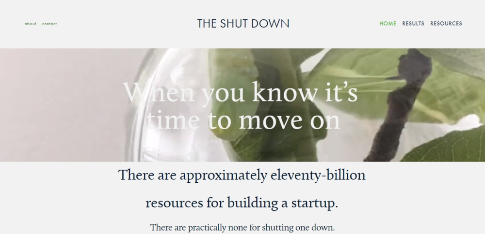 the shutdown site